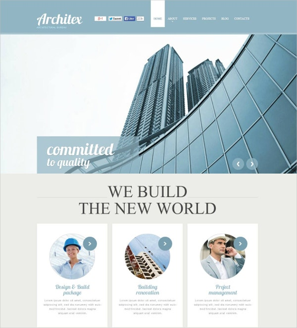quality architecture flash cms template 69