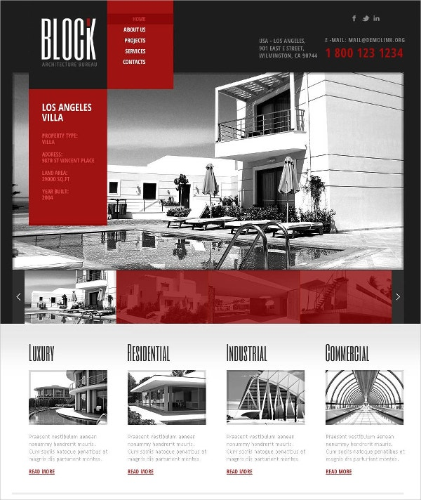 Architecture Industrial Flash CMS Template $69