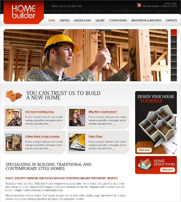 commercial construction flash cms template 41
