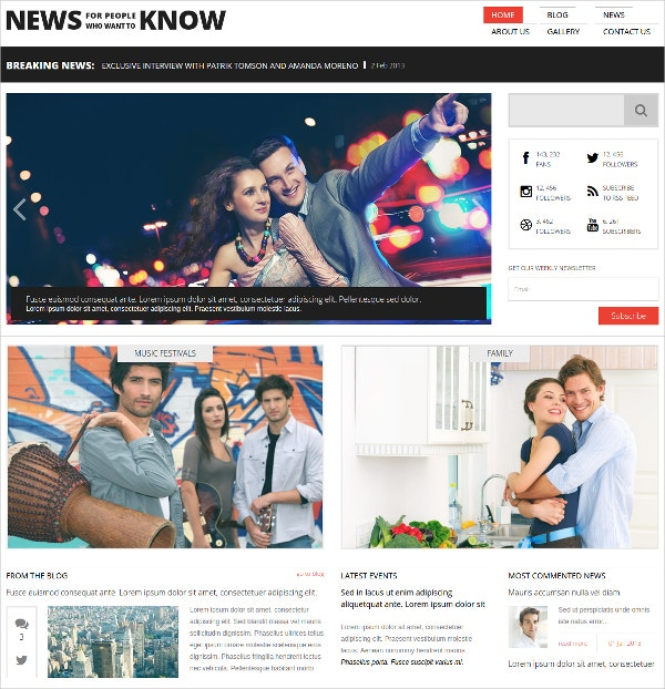 News & Magazine Media Flash CMS Template