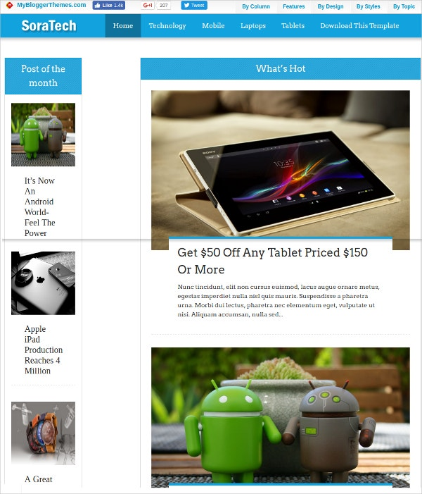 free stunning blog theme