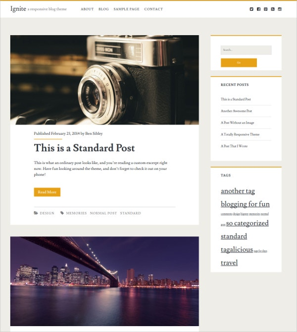 Free Responsive Personal WordPress Blog Theme