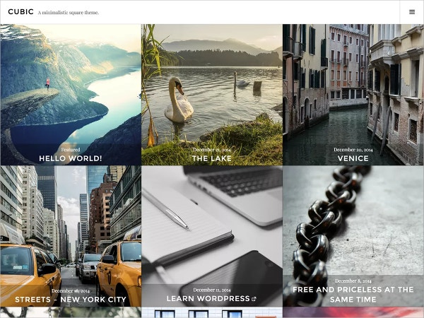Free Photo Blogging WordPress Theme