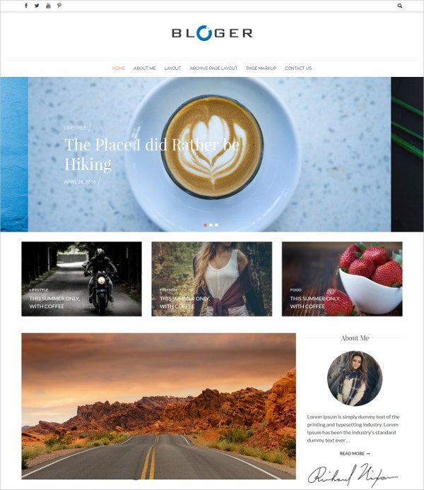 free stylish wordpress blog theme