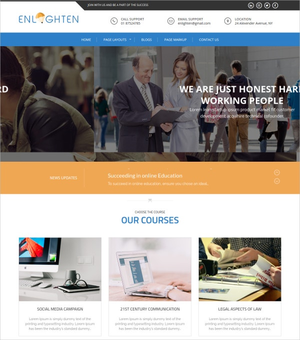 Free Education Website Themes Templates Free Premium Templates - Education website templates