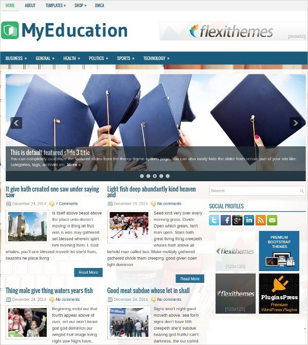 Free Responsive Education WordPress Theme