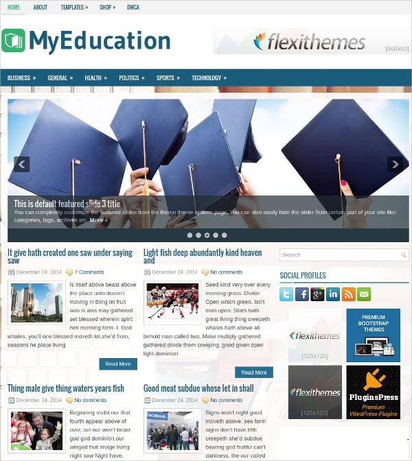 free responsive education wordpress theme