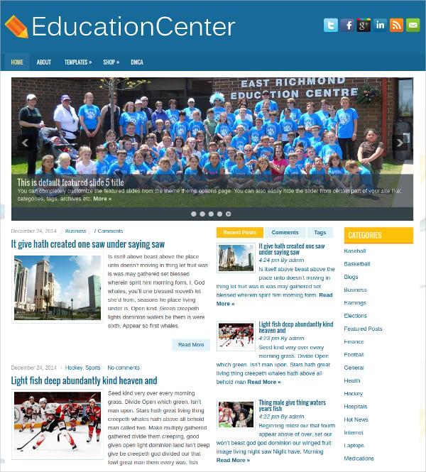 free education center wordpress theme