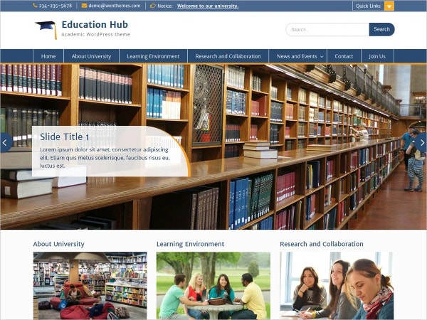 free school university education wordpress theme