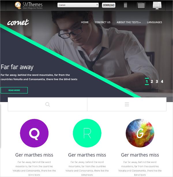 Free Simple Education WordPress Theme