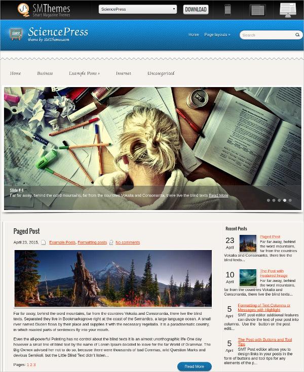 free education learning wordpress theme