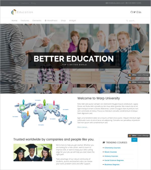 free premium education joomla theme
