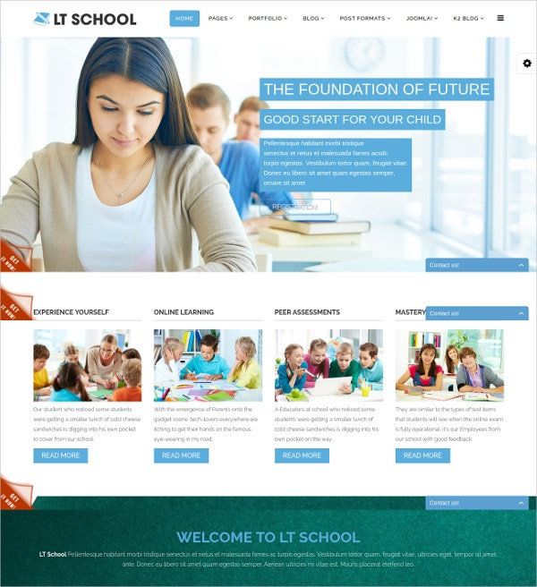 Free Online Courses Education Joomla Theme