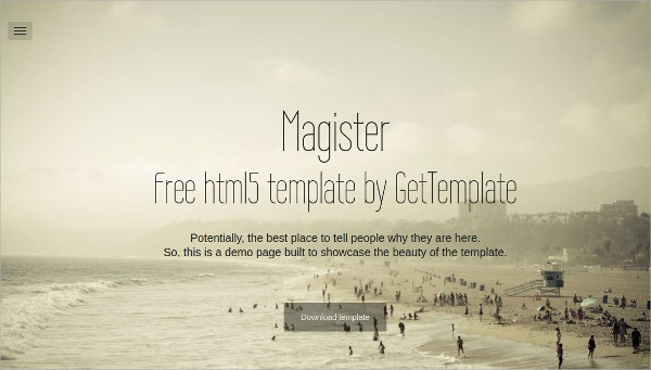 Free Responsive single Page HTML5 Template