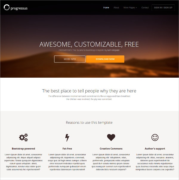 Free Responsive Multipurpose Bootstrap HTML5 Template