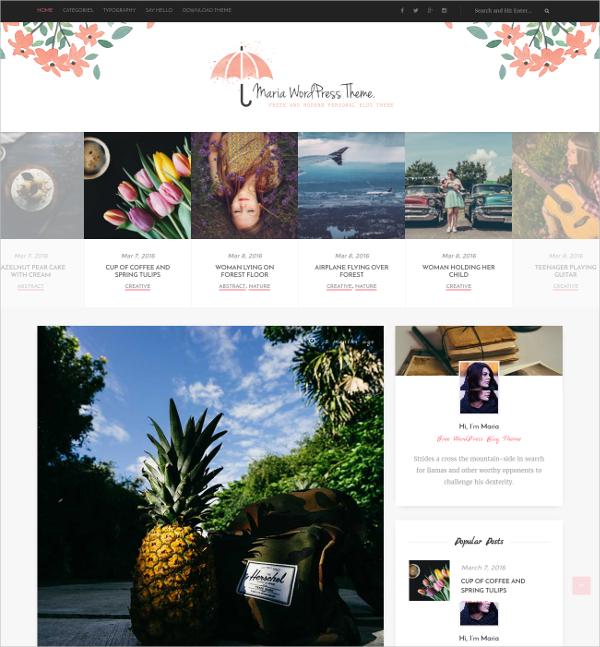 Free Modern Personal WordPress Theme