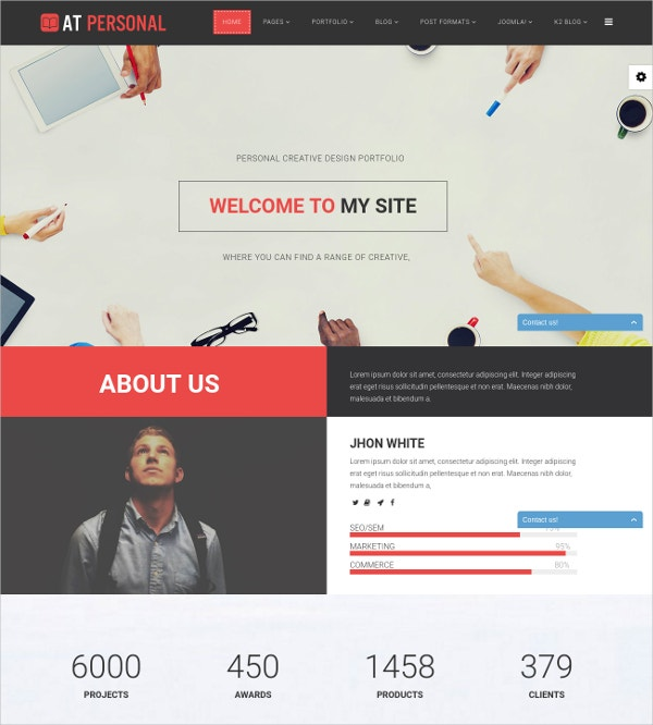 Free Personal Business Joomla Theme