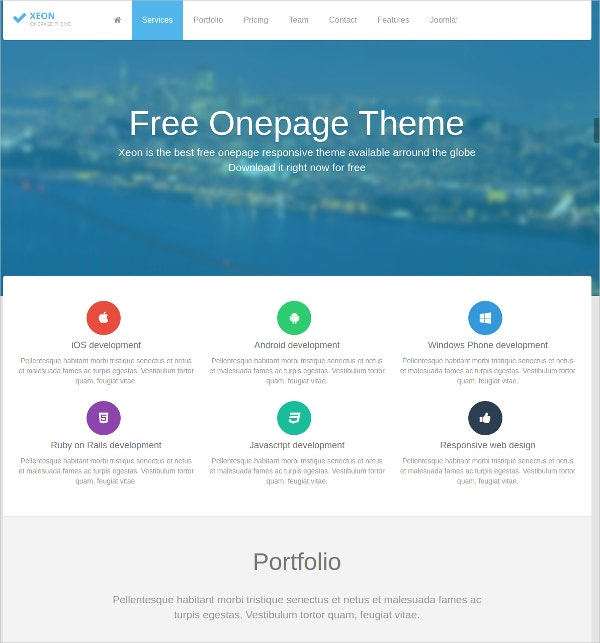 free personal corporate joomla theme