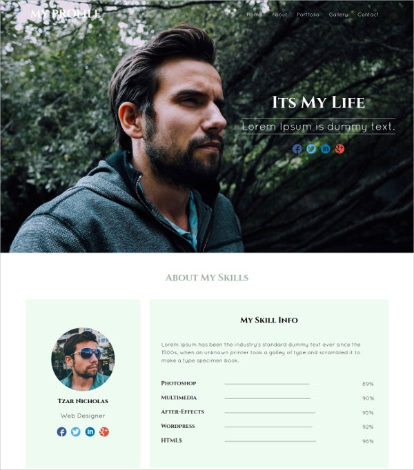 18+ Free Personal Website Themes & Templates | Free