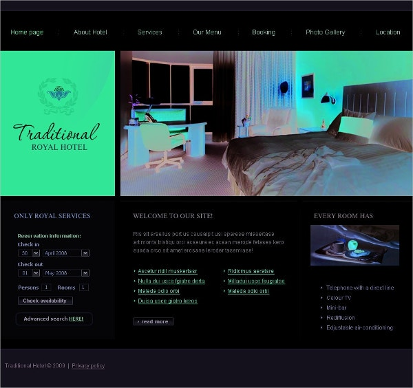 Travel Agency Hotels SWiSH Template $39