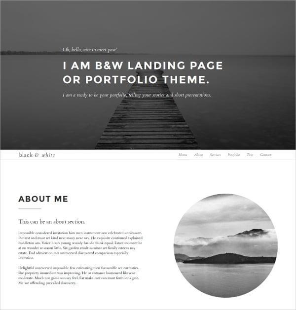 free minimalist landing page theme