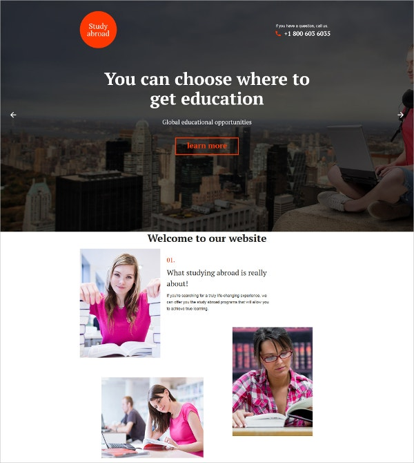 Education Opportunity Landing Page Template 10
