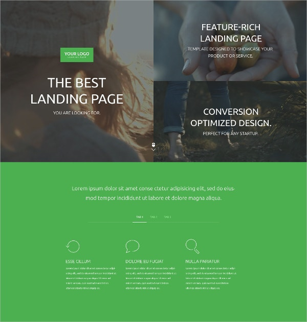 Business Video Landing Page Template $10