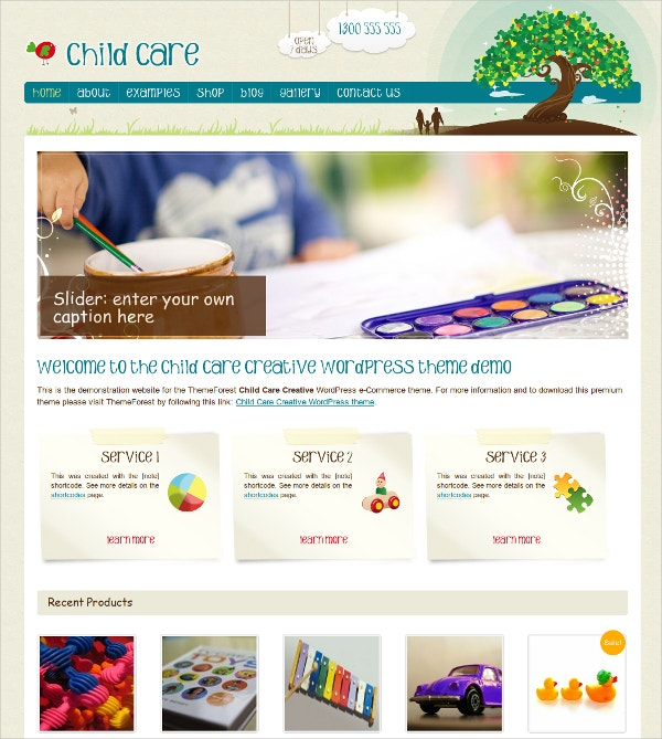 WordPress Jigoshop Kids Theme $59