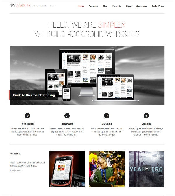 Design Jigoshoop WordPress Responsive Portfolio Theme $49