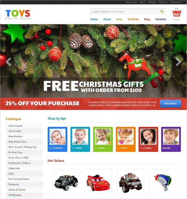 Online Toys Jigoshop WordPress Theme