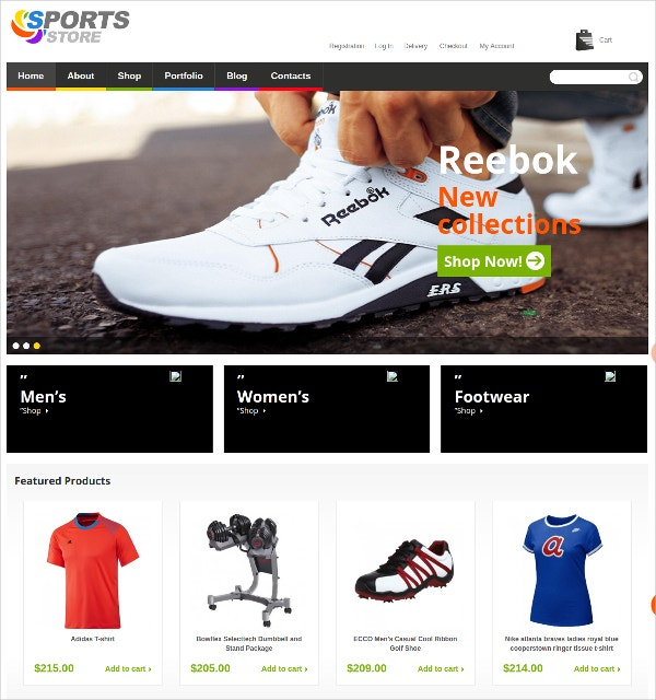 Sports Wear Clothes & Shoes Jigoshop WordPress Theme
