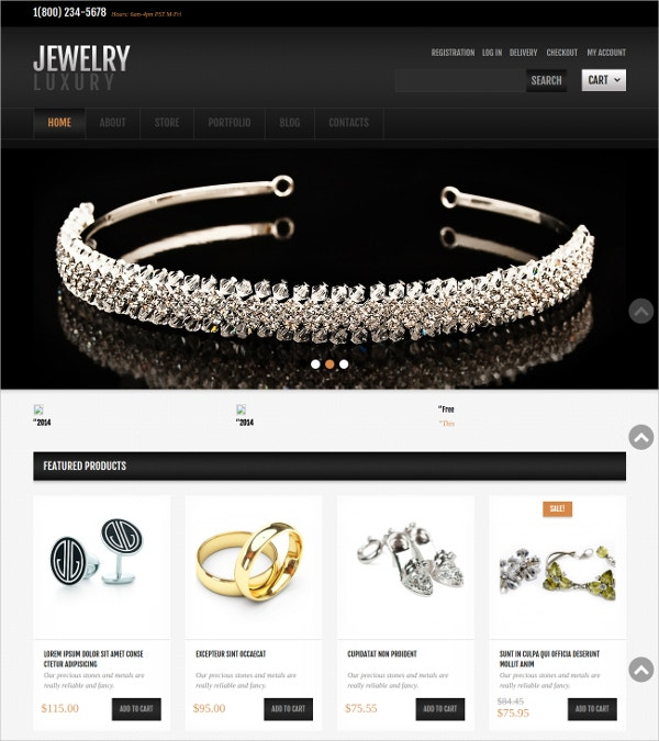 Jewelry Jigoshop WordPress Theme