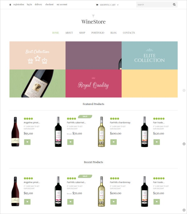 Wine Store Jigoshop WordPress Theme