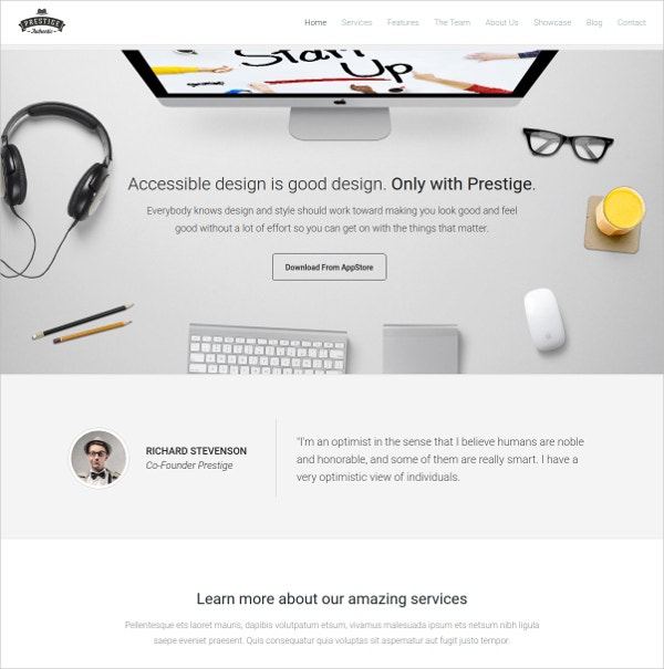 Multipurpose Mobile Landing Page Theme $13