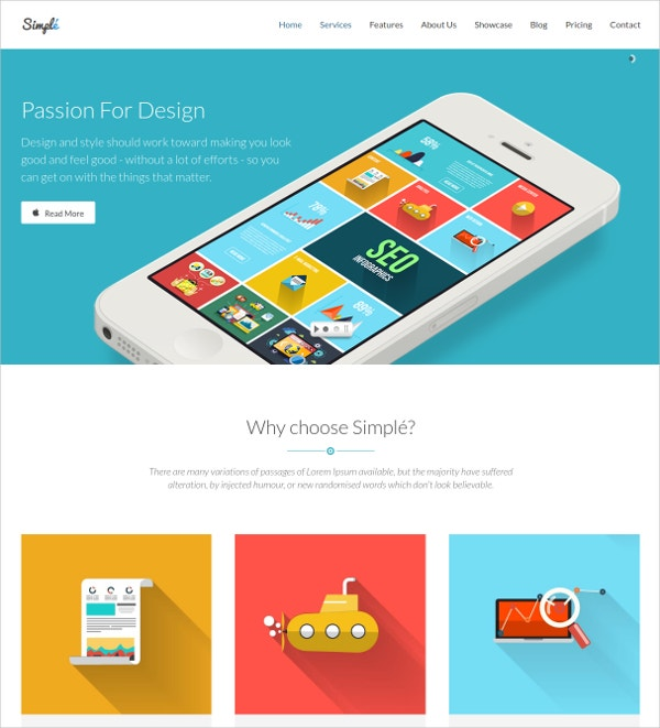 Mobile Product Landing Page Template $12