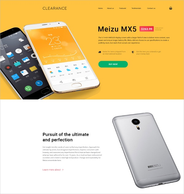 mobile repair service landing page template 13