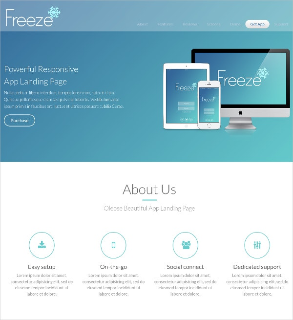 Professional Mobile Landing Page Template