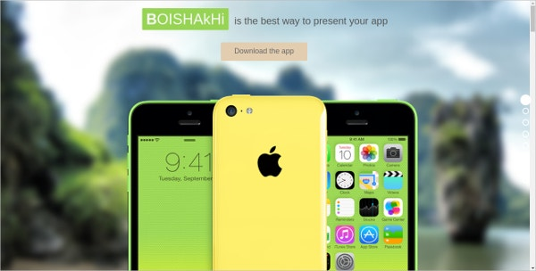 Fullscreen Mobile Landing Page Theme