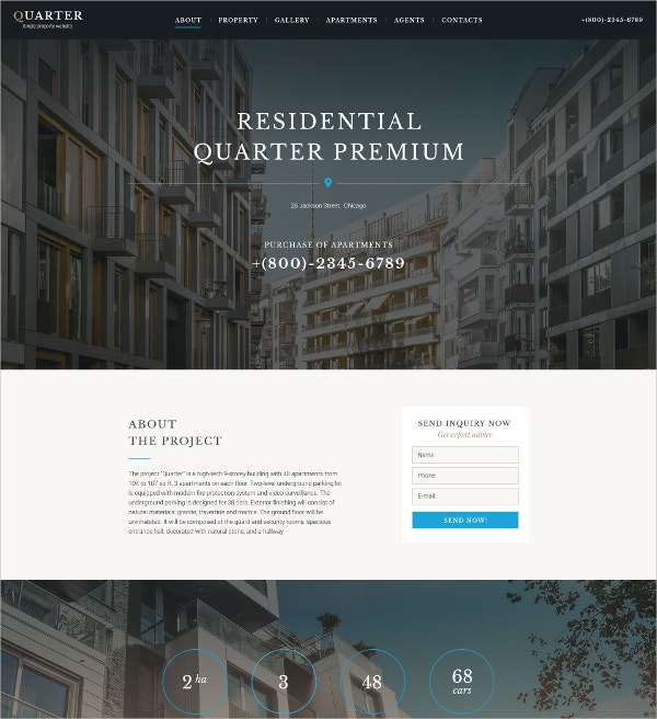 Premium Real Estate Landing Page Template $13