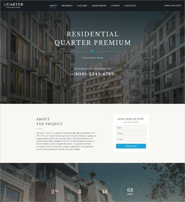 premium real estate landing page template 13