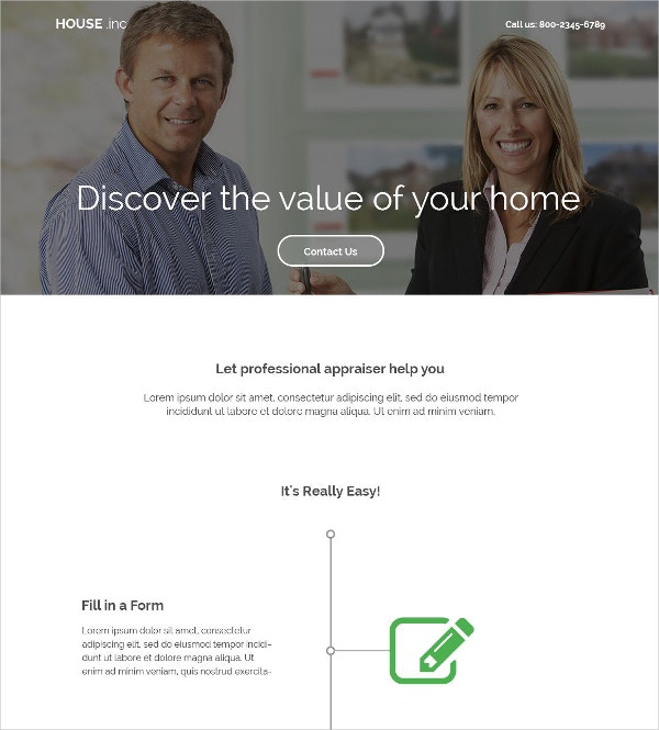real estate agency landing page template 10