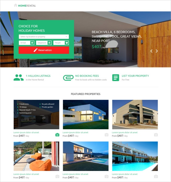 Real Estate Property Landing Page Template $10