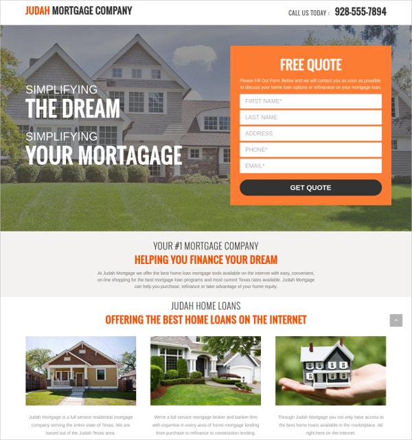 Beautiful Real Estate Landing Page Theme $5