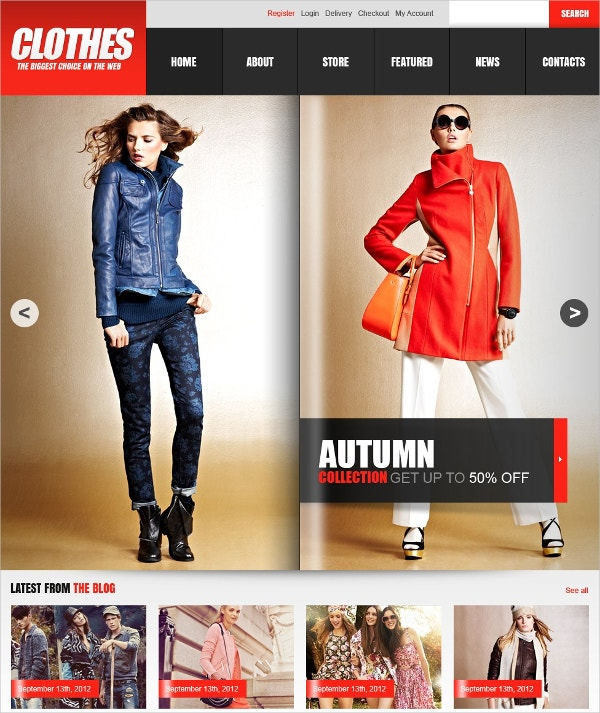 Fashion Clothes Store Jigoshop Theme $80