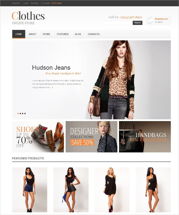 Online Clothes Jigoshop Theme $80