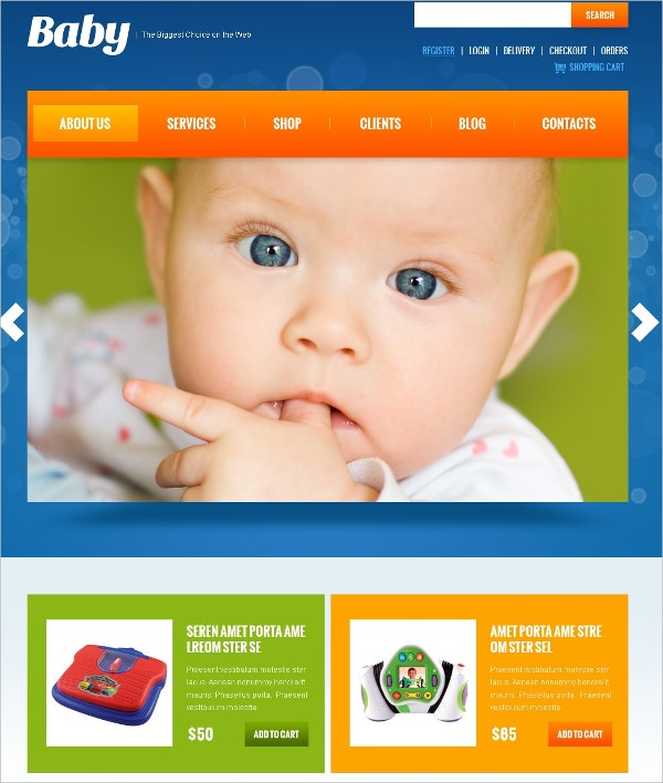 Baby Clothes Store Jigoshop Theme $80