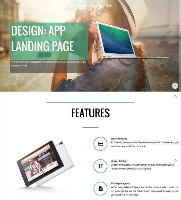 Design Responsive Landing Page Theme
