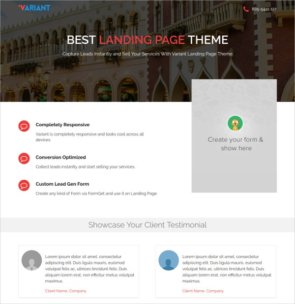 20 premium landing page themes templates free for Free landing page templates for wordpress