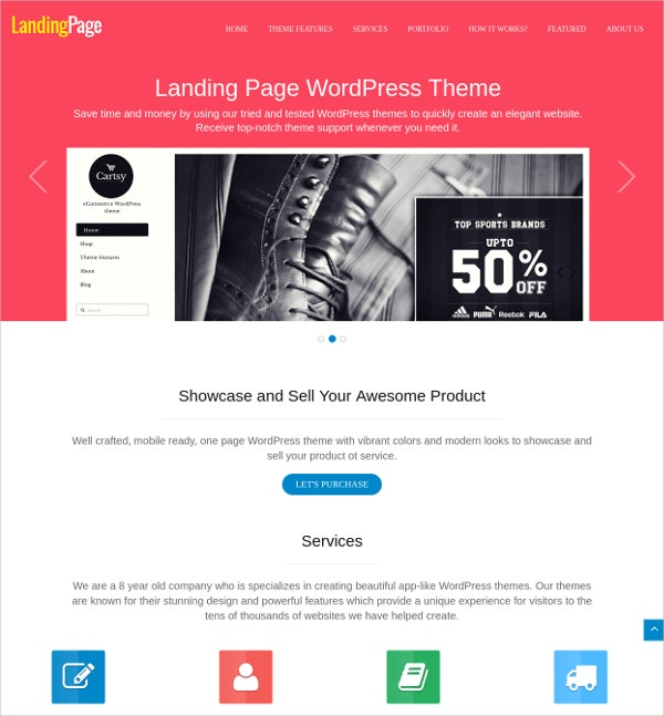 Multipurpose Landing Page WordPress Theme