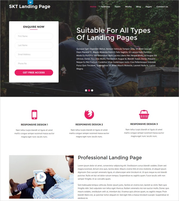 Professional WordPress Landing Page Theme $48